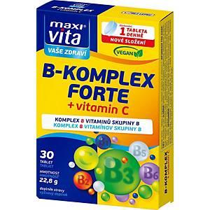 B-Komplex Forte + vitamin C 120 mg MaxiVita, 30 tablet