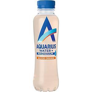 Eau minérale Aquarius magnésium et orange sanguine, pack de 12 bouteilles
