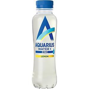 Eau minérale Aquarius zinc et citron, pack de 12 bouteilles