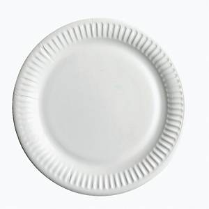 PK50 HUHTAMAKI PAPER PLATE 18CM WHITE