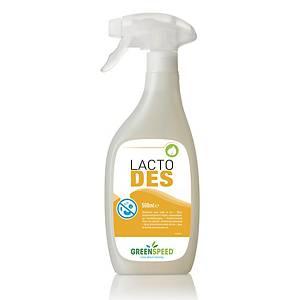 Spray désinfectant Greenspeed Lacto Des, 500 ml, le paquet de 6