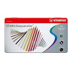 Stabilo® Aquacolor aquarel potloden, doos van 12 kleurpotloden