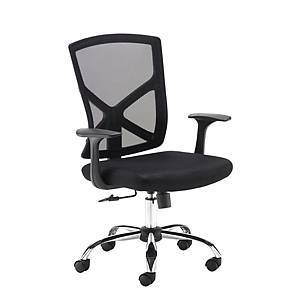 Hale Mesh Back Operators Chair With Arms Black