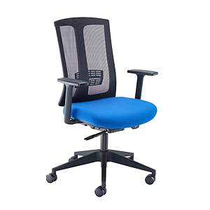 Ronan Mesh Back Operators Chair With Arms Blue