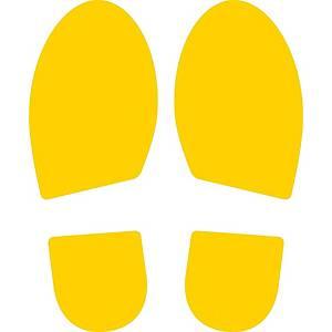 Symbole de marquage au sol Cep - format Pas - 300 x 115 mm - jaune - par 2