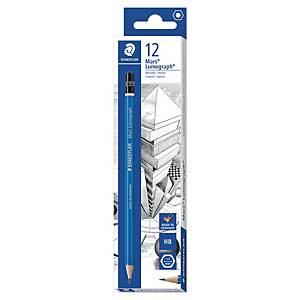 Crayon graphite Staedtler Lumograph - HB - boîte de 12