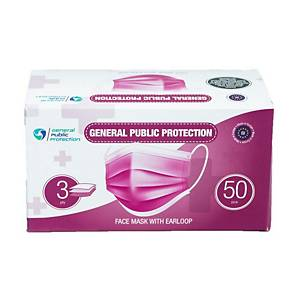 Disposable Protective Masks, 3 layers, 50 pieces