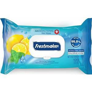 Antibakteriální utěrky Freshmaker, citrón, 120 ubrousků v balení