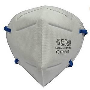 Masque pliable jetable FFP2 - sans soupape - par 50