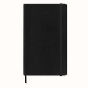 Moleskine agenda 12M, zachte omslag, zwart