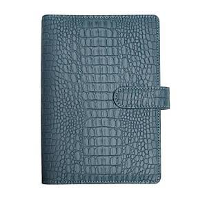 Exatime 17 baby croco agenda, blauw - grijs