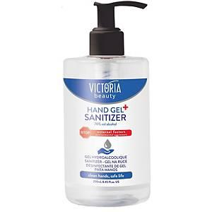 Victoria Beauty Hände-Desinfektionsgel mit Dosierpumpe, 250 ml