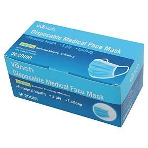 Masques chirurgicaux 3 plis type I - boite de 50