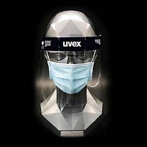 Uvex 9710514 safety face shield pet