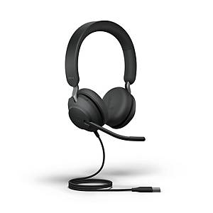 Headset Jabra Evolve2 40 MS, Duo/Stereo, USB-A