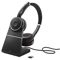 Headset Jabra Evolve 75 MS Duo/Stereo, inkl. Ladestation, Bluetooth