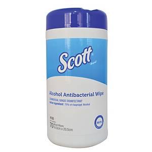 Scott Alcohol Antibacterial Wipes - 70 sheet