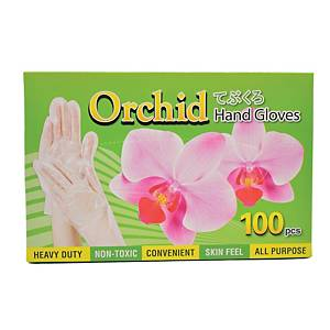 Orchid Hand Gloves (Free Size) - Box of 100