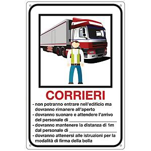Cartello per corrieri 300x200 mm