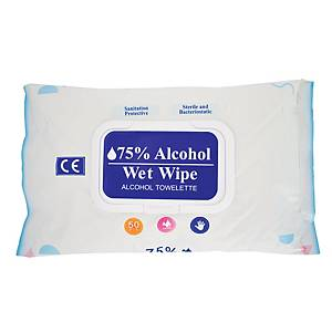 Alcohol Wet Wipes - 75% Alcohol Content