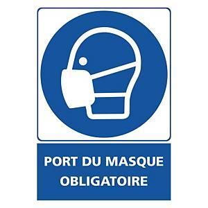 Panneau adhésif PVC - Port du masque obligatoire - 150 X 210 mm