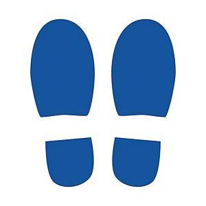 Symbole de marquage au sol - format Pas - 150 x 300 mm - bleu - par 4