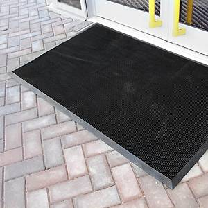 Alfombra desinfectante Coba Europe Fingertip - 600 x 800 mm - negro