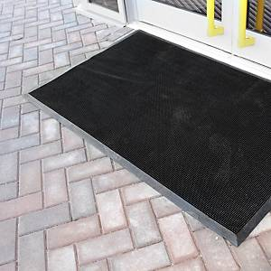 Alfombra desinfectante Coba Europe Fingertip - 800 x 1000 mm - negro