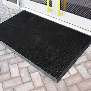 Alfombra desinfectante Coba Europe Fingertip - 900 x 1500 mm - negro