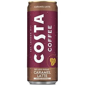 Costa Coffee Latte Caramel, 250ml, Packung à 12 Dosen