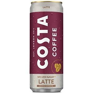 Costa Coffee Latte, 250ml, Packung à 12 Dosen