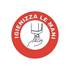 """Bollo adesivo per vetrine  IGIENIZZA LE MANI"""" – conf. 2"""