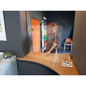 Écran de comptoir transparent Jalema, 75 x 80 cm