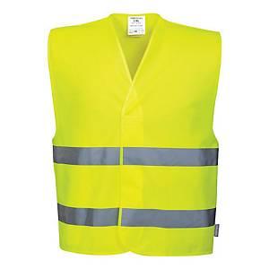 Veiligheidsvest fluo geel, houd 1,5 m afstand, maat S/M, Nederlandstalig