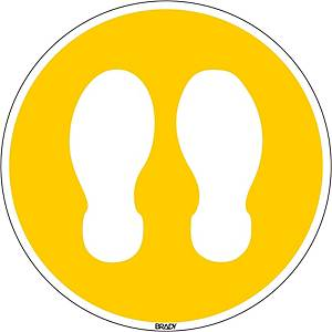 Picto feet stand here poly 350mm yellow