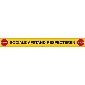 Stoplijn social distancing, L 80 cm, Nederlandstalig