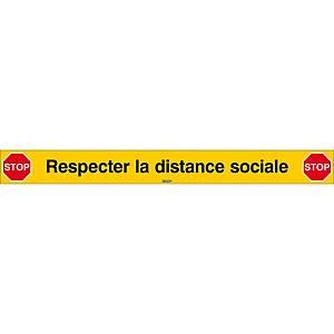 Ligne d arrêt de la distanciation sociale, L 80 cm, francophone