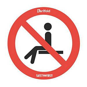 Tarifold label forbidden to sit 250mm - pack of 2