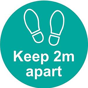 Turquoise Social Distancing Self Adhesive Floor Distance Marker