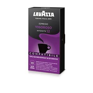 Caffè Espresso Vigoroso Lavazza compatibile Nespresso - conf. 10 cialde
