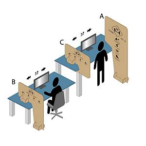 Cardboard separator, type A, 192x100cm, 2 x 250 pieces