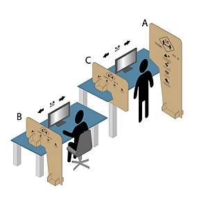 Écran en carton, type C, l 800 x H 800 cm, 2 x 250 pièces