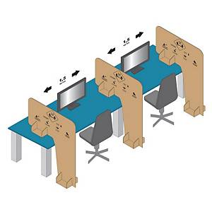 Cardboard separator t/b 1400x1150mm, 2x250 pieces