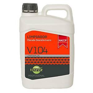 Limpiador desinfectante clorado V104 - 5 l