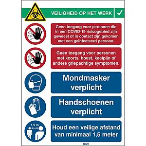 Pictogram info 2 Covid-19, polyester, 371 x 262 mm, Dutch