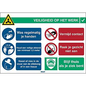Pictogram general safety info at work, 262 x 371 mm, Dutch