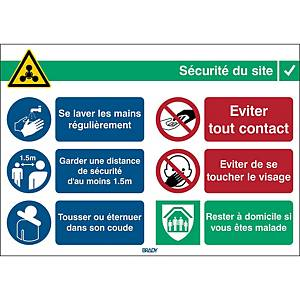 Pictogram general safety info at work, 262 x 371 mm, French