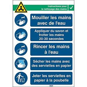 Pictogram hand hygiene, 371 x 262, French