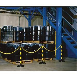 Poteau de barrière Brady, hauteur 104 cm, noir, le paquet de 6