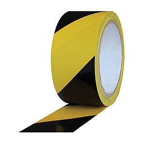 MARKING TAPE PVC 27MX48MM BLK&YLLW